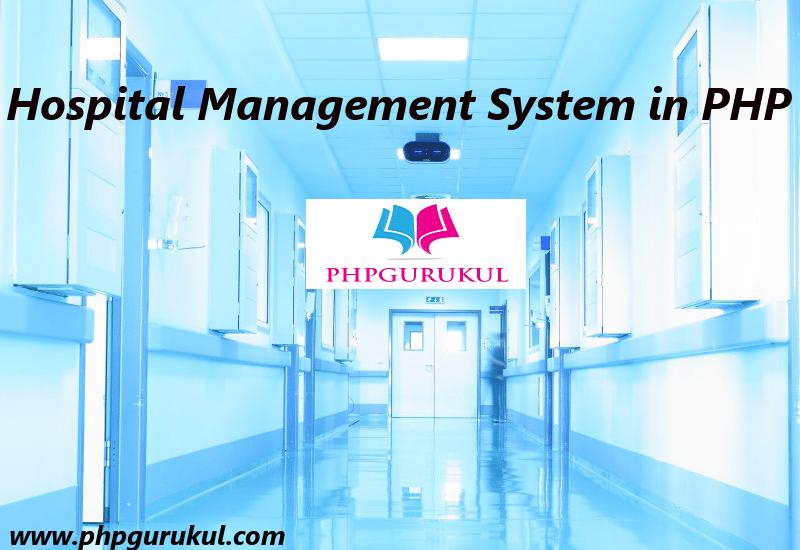 Hospital Management System In Php Phpgurukul
