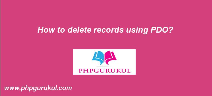 Delete Records