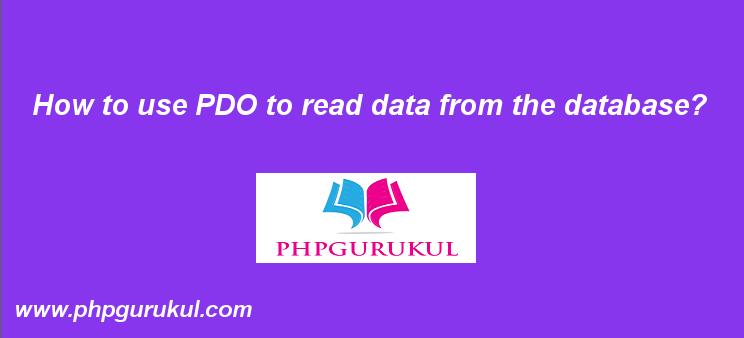 Read Data in PDO