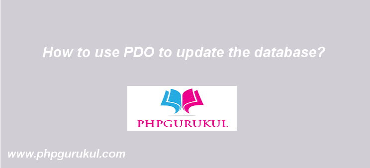 Update the Date with PDO