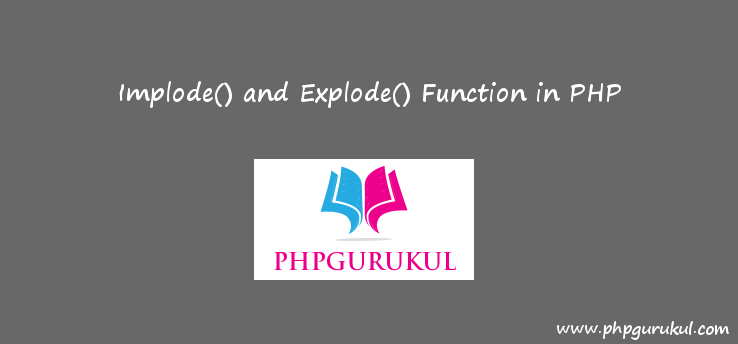 explode and implode in php