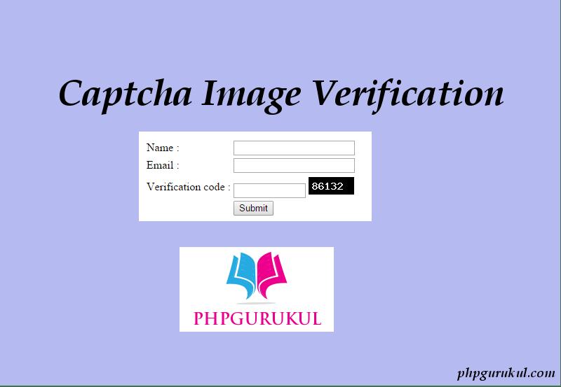 Captcha Image Verification - PHPGurukul