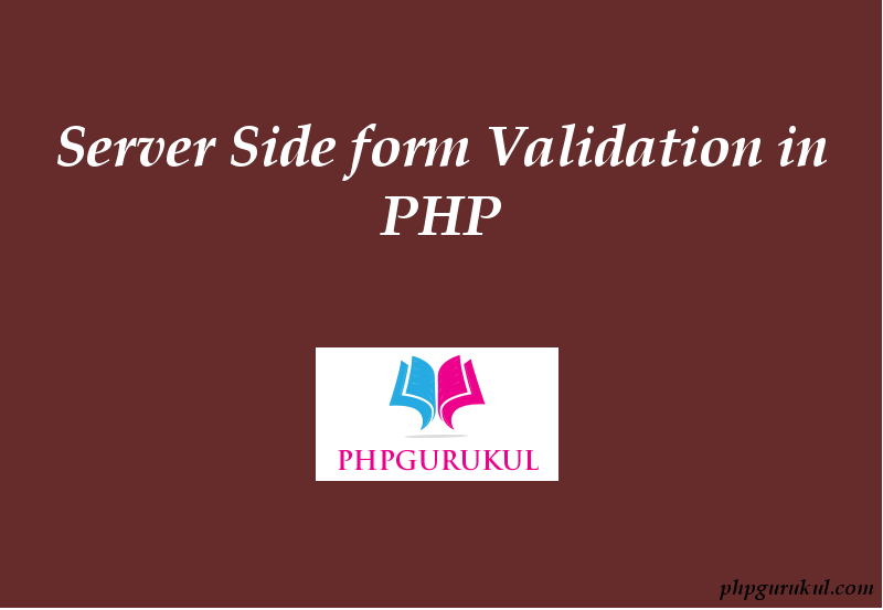 server side validation in php