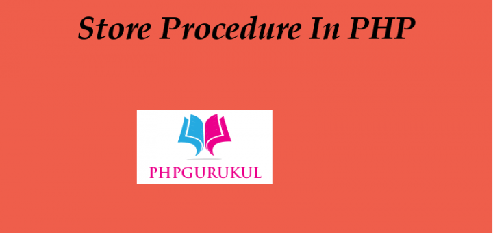 Store Procedure in php