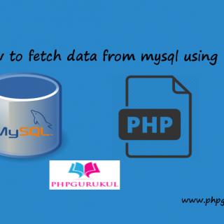 Fetch data from MySQL using PHP