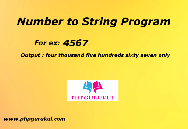 Convert Number to String in PHP