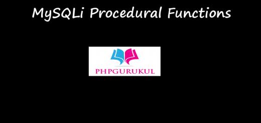 MySQLi Procedural Functions