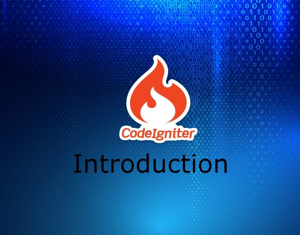 codeigniter Introduction