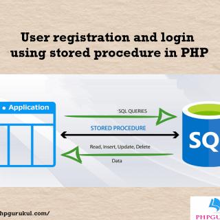User Registration and login using store procedure
