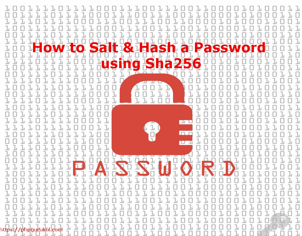 How to Salt & Hash a Password using Sha256