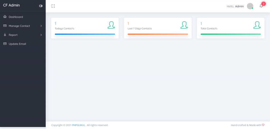 Contact-Form-Admin-Dashboard