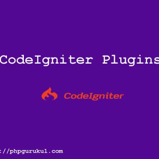 CodeIgniter plugins