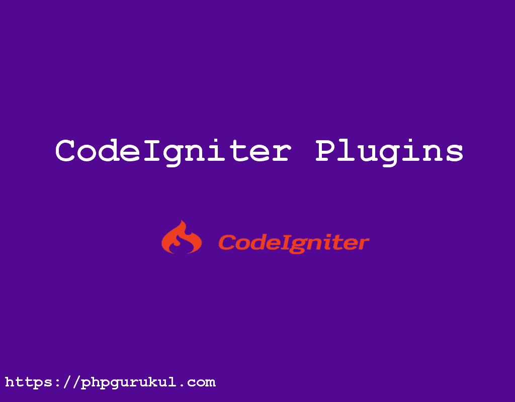 CodeIgniter plugins