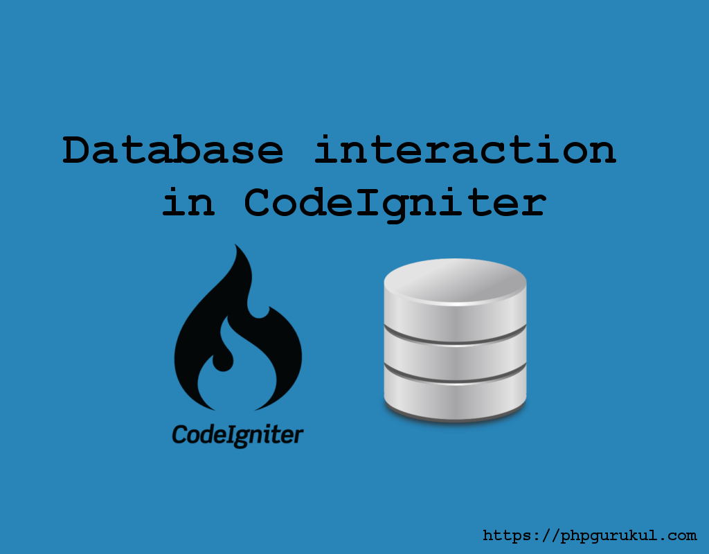 Database interaction in CodeIgniter