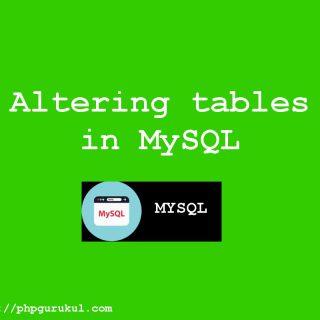 Altering tables in mysql