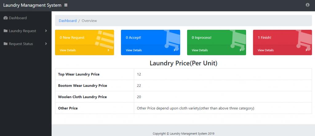Laundry Management System Using PHP and MySQL , Laundry Management
