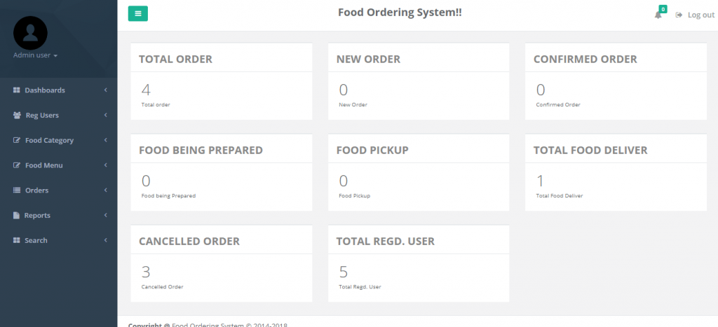 Online Food Ordering System project PHP and MYSQL Download