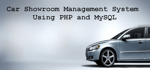 Car Showroom Management System Using PHP and MySQL
