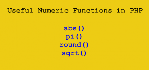 Useful Numeric Functions in PHP