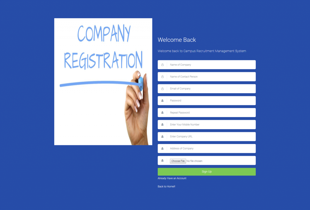 CRMS Company Signup