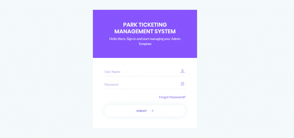 Park Ticketing Management System Using PHP and MySQL