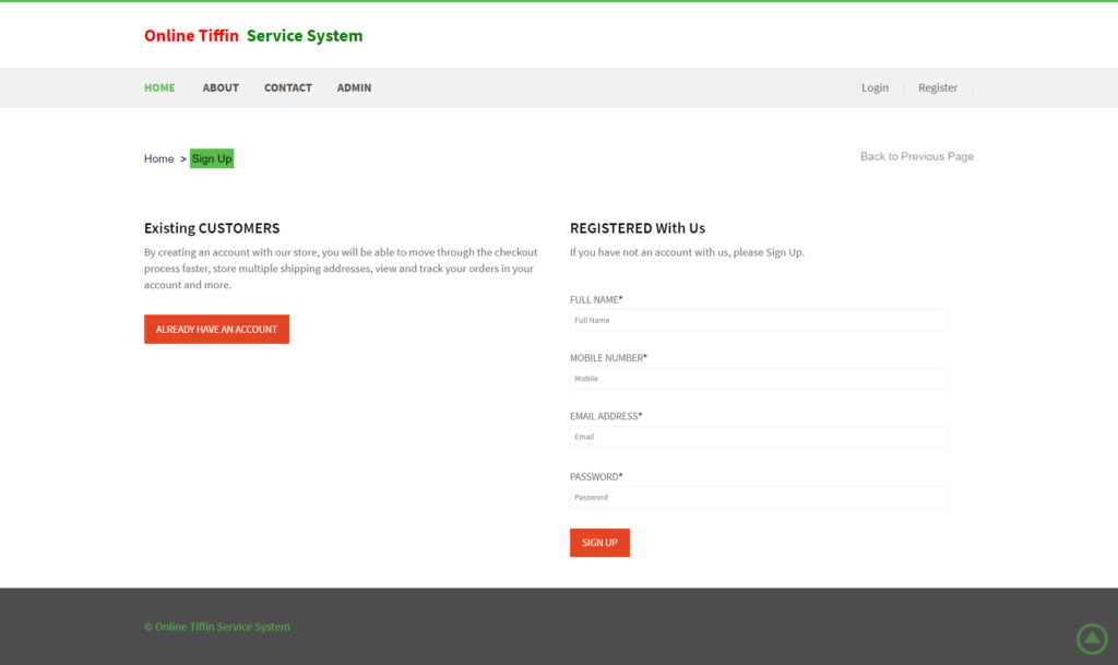 Online-Tiffin-Service-System-Register-page