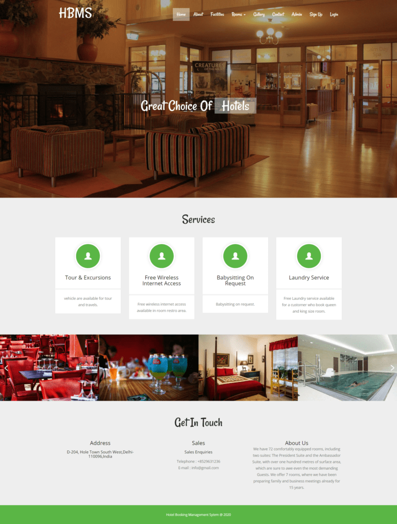 Hotel-Booking-Management-System-Home-Page