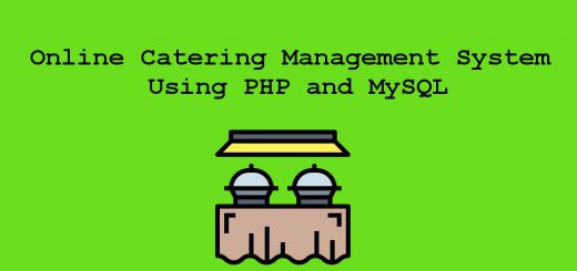 Online Catering Management System Using PHP and MySQL project