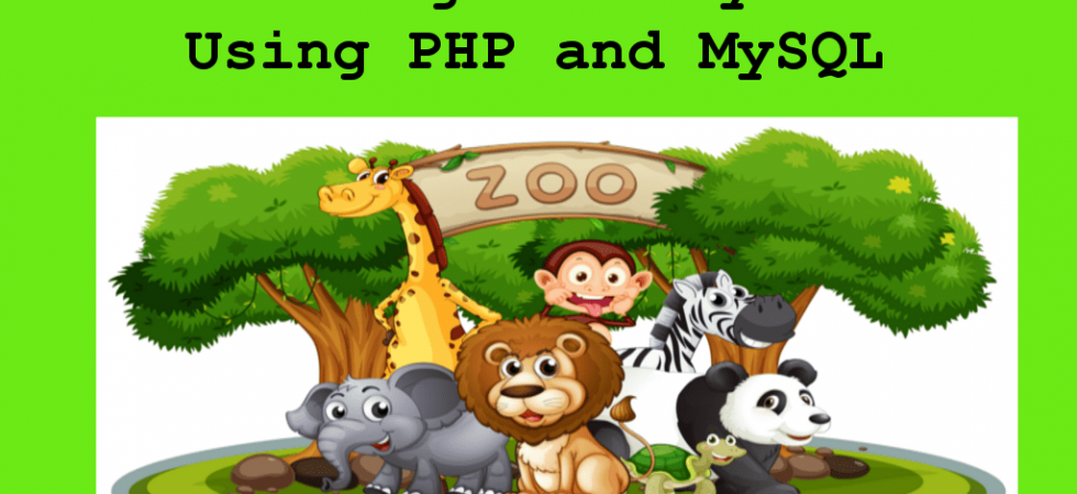 Zoo Management System Using PHP and MySQL