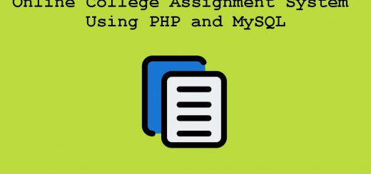 Online College Assignment System Using PHP and MySQL project
