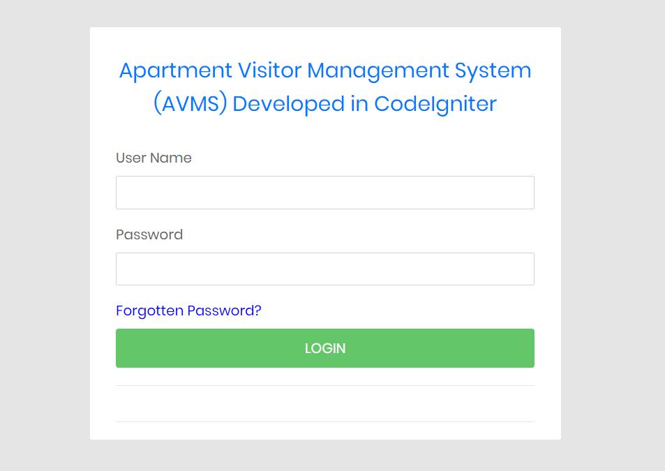 صفحه ورود به سیستم AVMS-CI