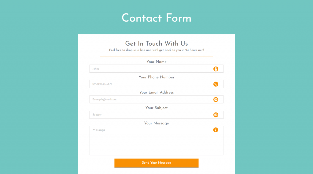 Contact-Form-With-Mail-function-and-Database-store-Facility-Home-Page