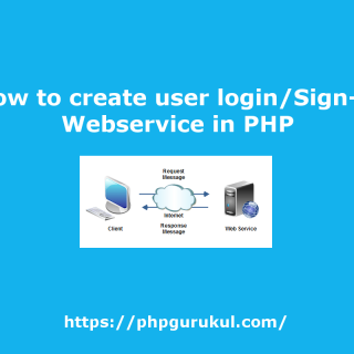 How to create user login Webservice in PHP