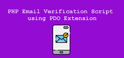 PHP Email Verification Script using PDO Extension