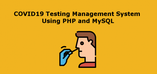 COVID19 Testing Management System Using PHP and MySQL