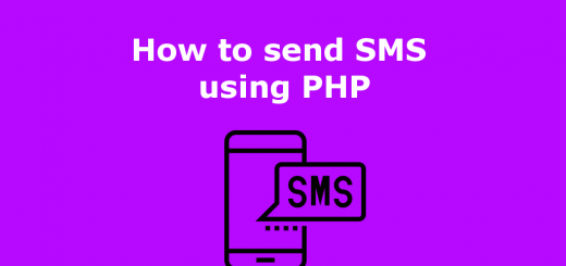 How to send SMS using PHP