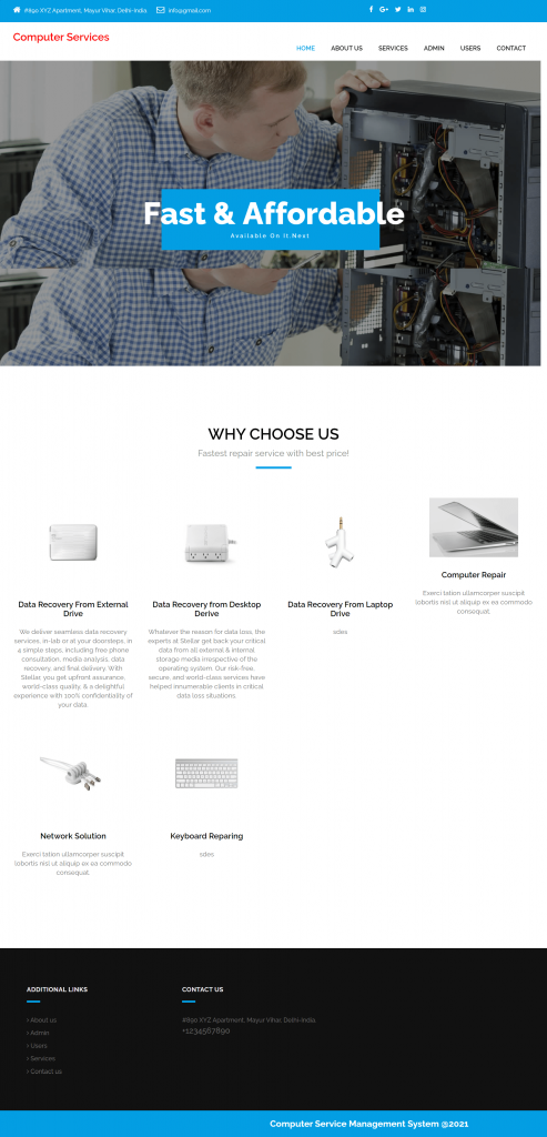 COMSMS Home Page