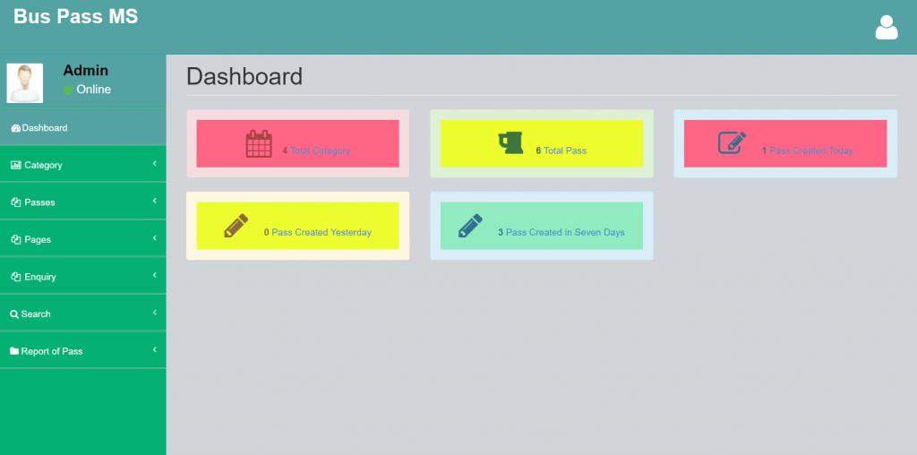 Buspass MS Admin Dashboard