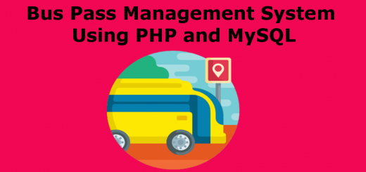 Bus Pass Management System Using PHP and MySQL
