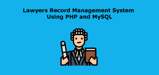 Lawyers Record Management System Using PHP and MySQL